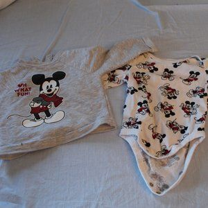 Set, Disney Mickey Mouse tops